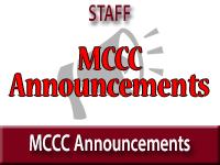 MCCC Announcements
